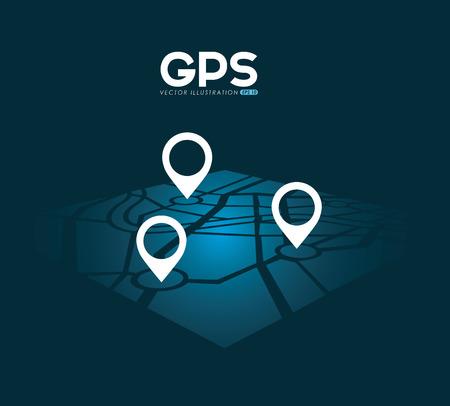 street sign: gps signals design, vector illustration eps10 graphic