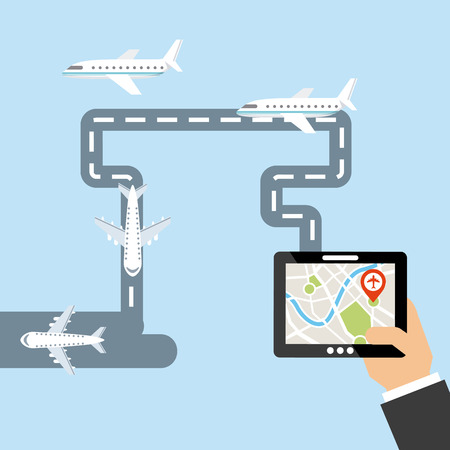 airport people: gps signals design, vector illustration eps10 graphic