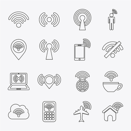 antena: wifi signal design, vector illustration eps10 graphic