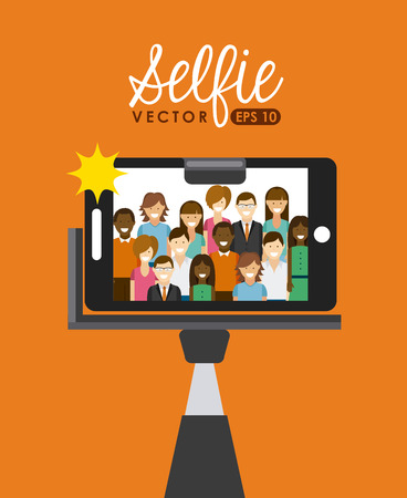 to stick: selfie concept design, vector illustration eps10 graphic Illustration