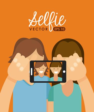 Selfie Konzept Design, Vector Illustration eps10 Grafik