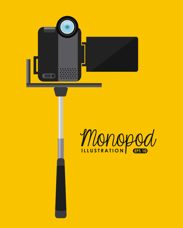handycam: selfie concept design, vector illustration eps10 graphic Illustration