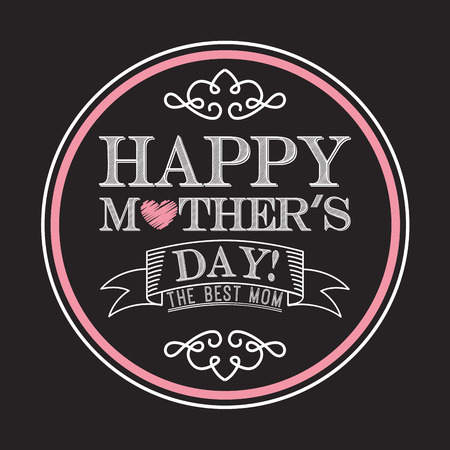 mothers day: happy mothers day design, vector illustration eps10 graphic Illustration