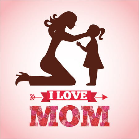 happy mothers day design, vector illustration eps10 graphic Vector