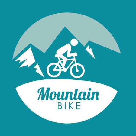 Bike design over blue background, vector illustration.