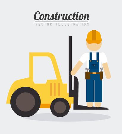 Construction design over white background, vector illustration.