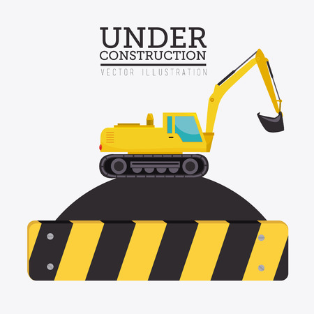 recondition: Construction design over white background, vector illustration.
