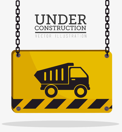 construction vehicle: Construction design over white background, vector illustration.