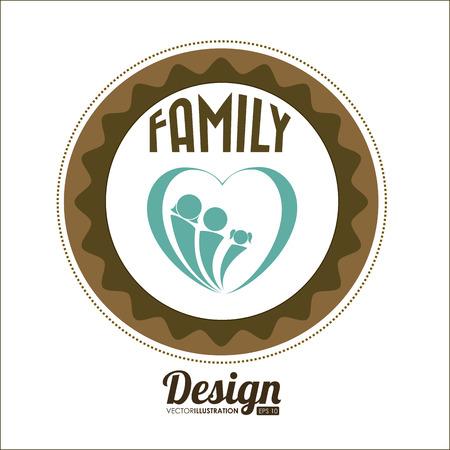 familiar: Family design over white background, vector illustration. Illustration