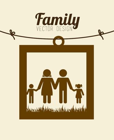 familiar: Family design over beige background, vector illustration.
