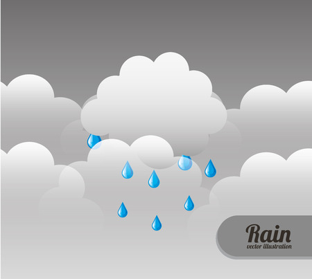 cloudscape: Rain Cloudscape design illustration. Illustration