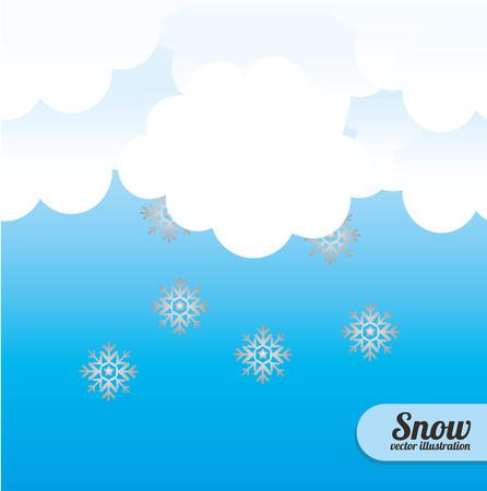 cloudscape: Snow Cloudscape design illustration.