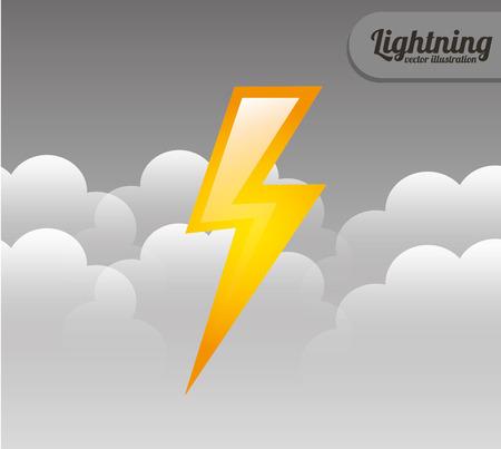 cloudscape: Lightning Cloudscape design illustration.