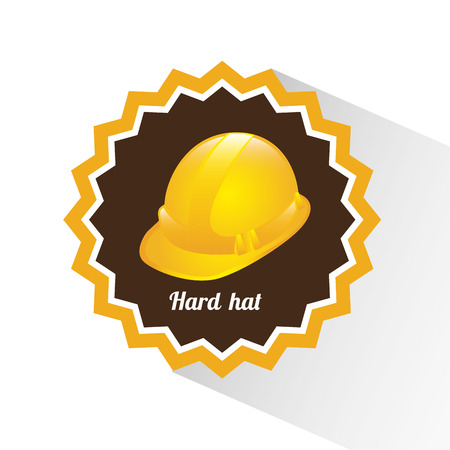 hard: Construction hard hat design over white background