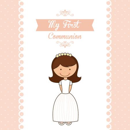 menina: a minha primeira comunhão projeto ilustração