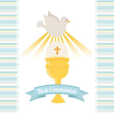 mijn eerste communie ontwerp illustratie Stock Illustratie