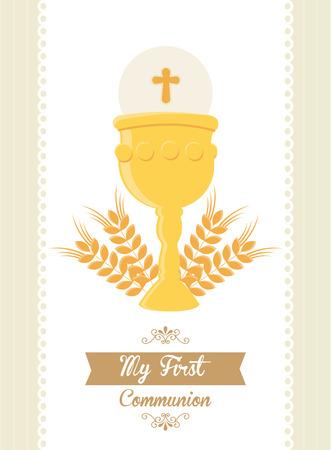 Ma première communion illustration de conception Banque d'images - 36679516