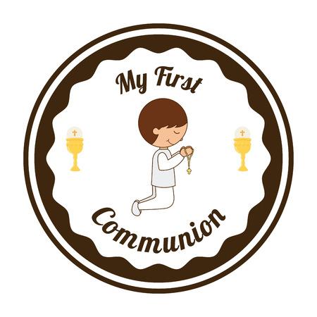 bautizo: mi primera comuni�n, ilustraci�n, dise�o