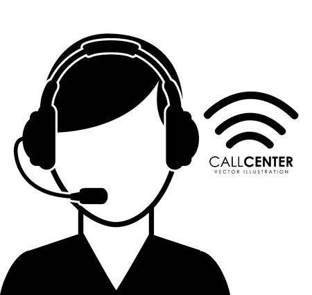 call center operator design illustration Vector Illustration