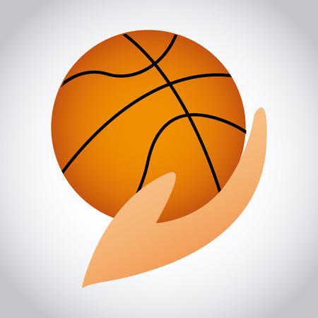 balon de basketball: baloncesto deporte dise�o ilustraci�n Vectores