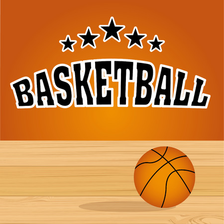 balon baloncesto: diseño de deporte de baloncesto, ilustración vectorial gráfico eps10 Vectores