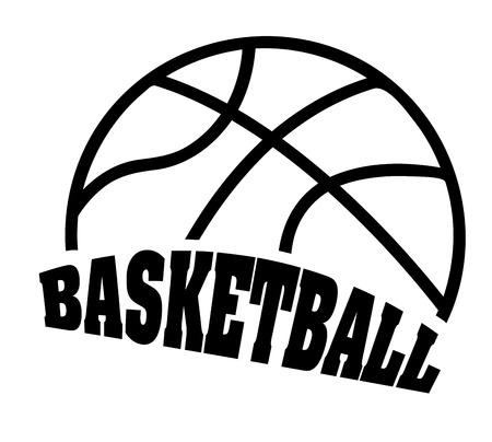 Basketbal sport ontwerp illustratie Stock Illustratie