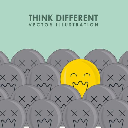 think different: think different design illustration