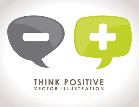 denk positief ontwerp illustratie