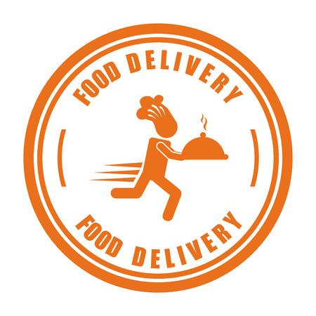 food delivery design illustration