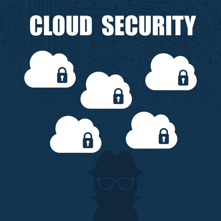 cloud security: cloud security design illustration