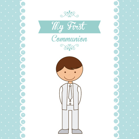first holy communion: my first communion design illustration