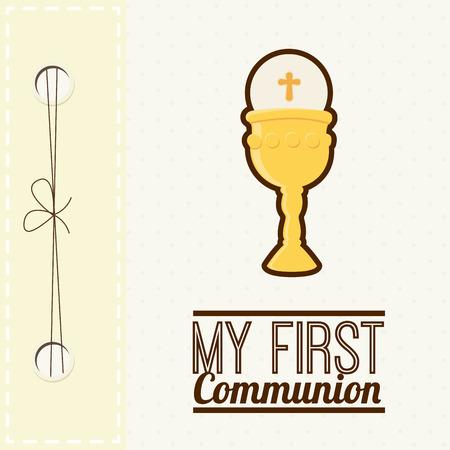 my first communion design illustration