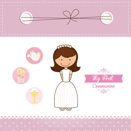 first communion: my first communion design illustration