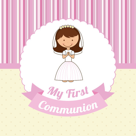 first communion design illustration