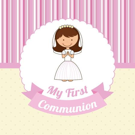 1st: first communion design illustration