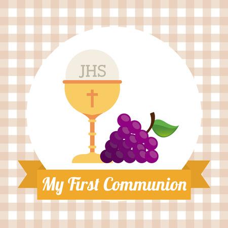 the 1st: my first communion design illustration