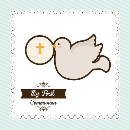 primera comunion: mi primera comunión, ilustración, diseño