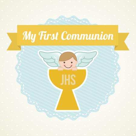 first communion: ma premi�re communion illustration de conception Illustration