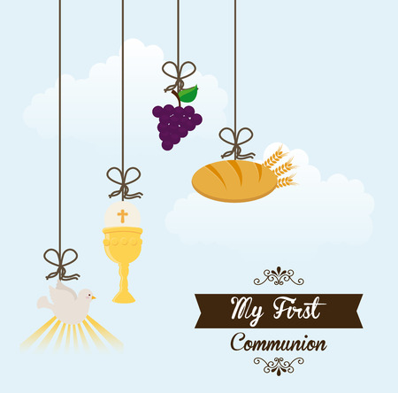 confirmation: my first communion design illustration