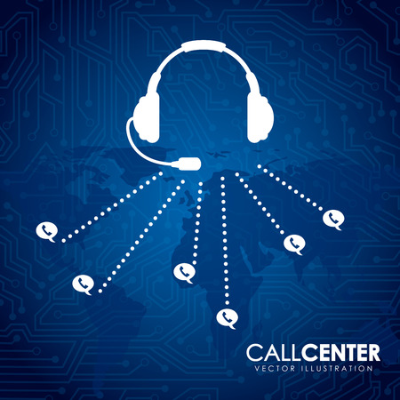 business center: call center design illustration