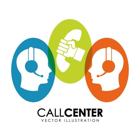 business call: call center design illustration
