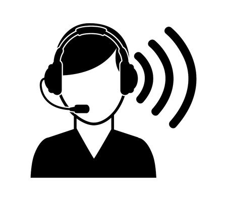 call center operator design illustration