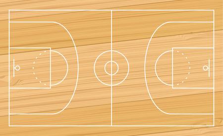 terrain de basket: basket terrain de sport illustration de conception