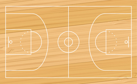 basketball sport court design illustration Ilustrace