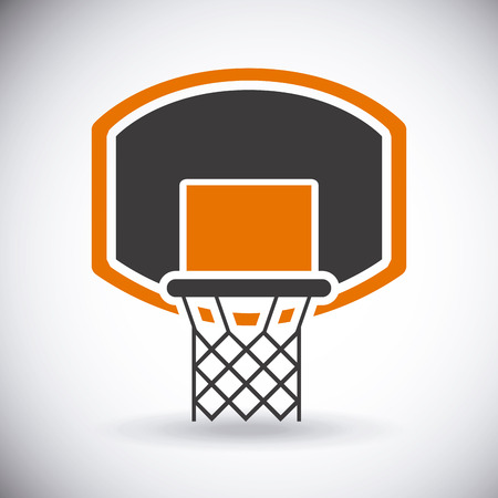 basketball tournaments: basketball sport net design Illustration