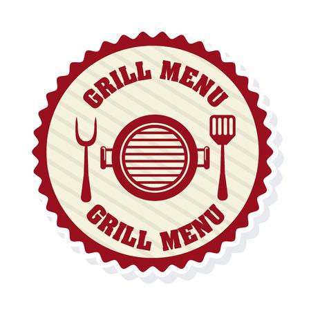 grill menu design illustration Illustration