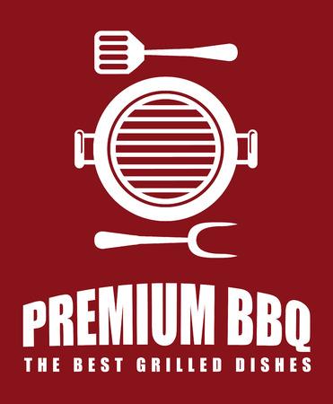 griller: Premium barbecue restaurant design Illustration