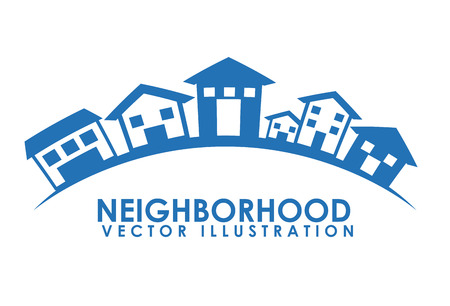 houses street: neighborhood design illustration