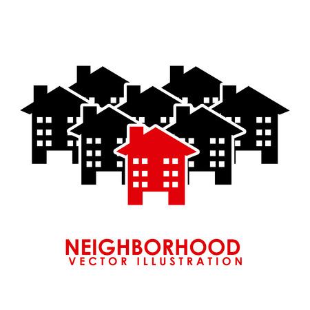 neighborhood design illustration Vector
