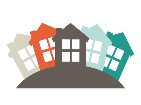 wijk ontwerp illustratie